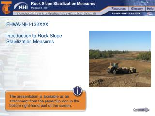 FHWA-NHI-132XXX Introduction to Rock Slope Stabilization Measures