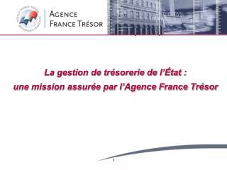 La gestion de trésorerie de l'État : une mission assurée par l'Agence France Trésor