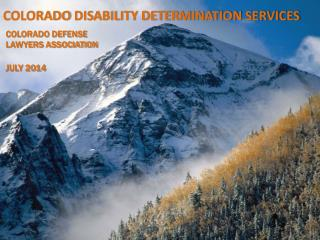 COLORADO DISABILITY DETERMINATION SERVICES