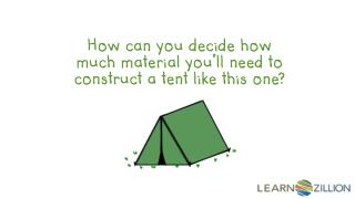 How can you decide how much material you'll need to construct a tent like this one?