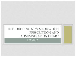 INTRODUCING NEW MEDICATION PRESCRIPTION AND ADMINISTRATION CHART