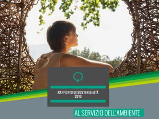 RAPPORTO  DI  SOSTENIBILITA' 2013