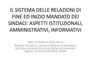 ANCI, 24 febbraio 2014, Roma