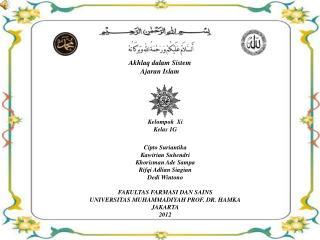 Akhlaq dalam Sistem Ajaran  Islam