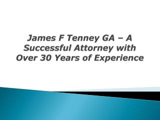 James Tenney, Atlanta, GA