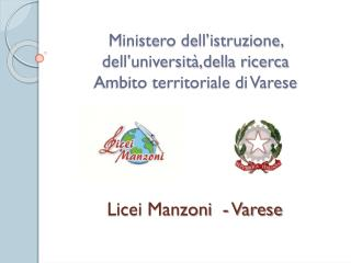 Ministero dell'istruzione, dell'università,della ricerca Ambito territoriale di Varese