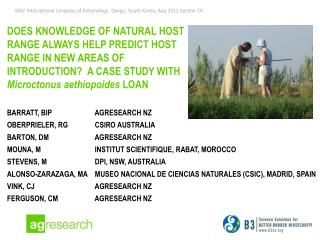 Barratt, BIP 	             AgReseArch NZ Oberprieler, RG 	             CSIRO AUStralia