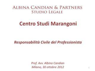 Centro Studi Marangoni  Responsabilità Civile del Professionista