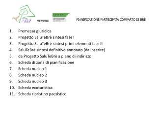 Premessa giuridica Progetto SaluTeBrè sintesi fase I