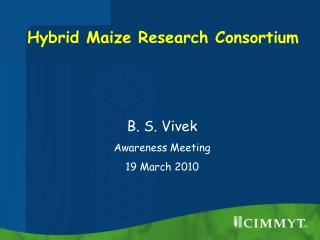 Hybrid Maize Research Consortium