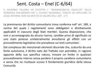 Sent. Costa – Enel (C-6/64)