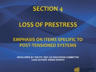 Loss of  Prestress