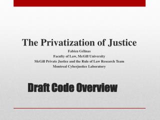 Draft Code Overview