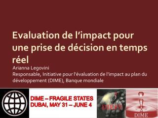 Evaluation de l'impact pour une prise de décision en temps réel