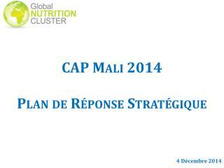 CAP Mali 2014 Plan de Réponse Stratégique