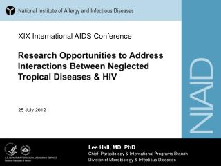 Research Opportunities to Address Interactions Between Neglected Tropical Diseases & HIV