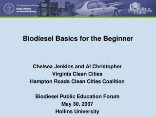 Biodiesel Basics for the Beginner