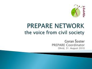 PREPARE NETWORK the voice from civil society