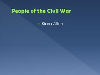 People of the Civil War