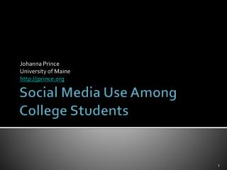Social Media Use Among  College Students
