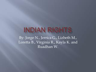 Indian Rights