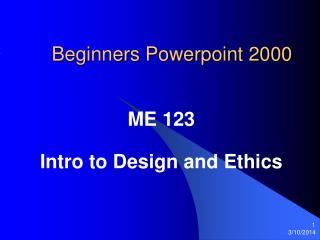Beginners Powerpoint 2000