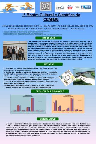 Análise do consumo de energia elétrica – Uma amostra  nas   residências do município de  Catu