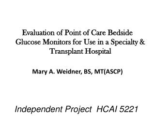 Independent Project  HCAI 5221