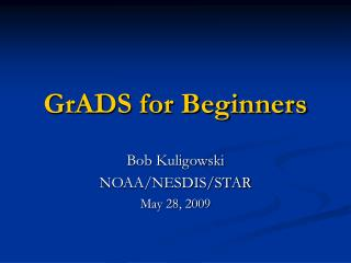 GrADS for Beginners
