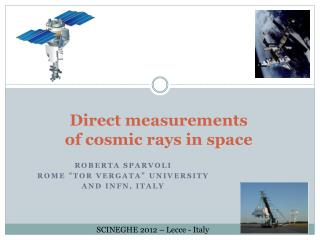 Direct measurements of cosmic rays in space