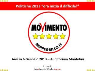 """Politiche 2013 """"ora inizia il difficile!"""""""