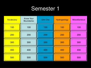 Semester 1