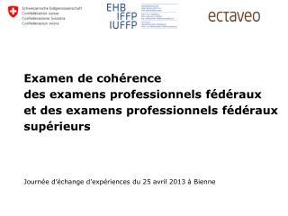 Journée d'échange d'expériences du 25 avril 2013 à Bienne
