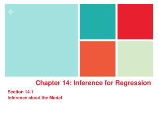 Chapter  14: Inference for Regression