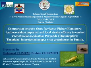 Presented  by Mohamed ELIMEM ; Brahim CHERMITI