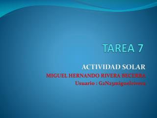 TAREA  7