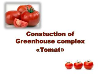 Constuction  of Greenhouse complex   « Tomat »