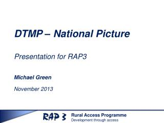 DTMP  –  National Picture