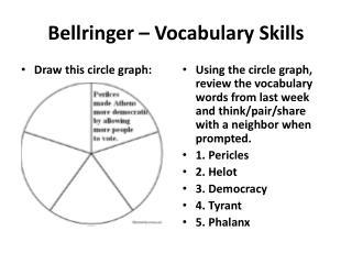 Bellringer  – Vocabulary Skills
