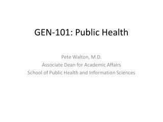 GEN-101: Public Health