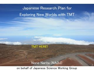 Japanese Research Plan for Exploring New Worlds with TMT