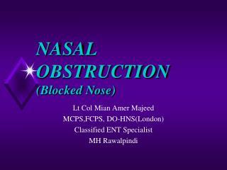 NASAL OBSTRUCTION (Blocked Nose)