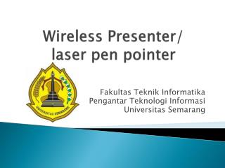 Wireless Presenter/ laser pen pointer