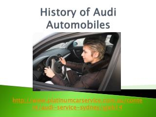 History of Audi Automobiles
