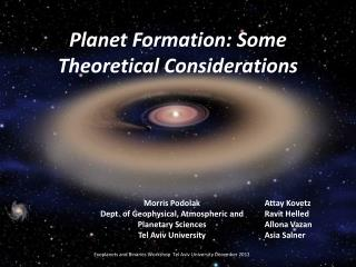 Planet Formation: Some Theoretical Considerations