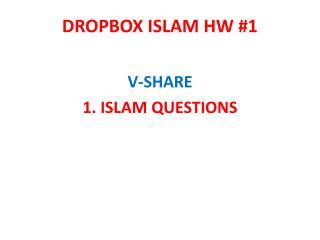 DROPBOX ISLAM HW #1