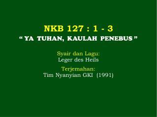 NKB  127  : 1 - 3