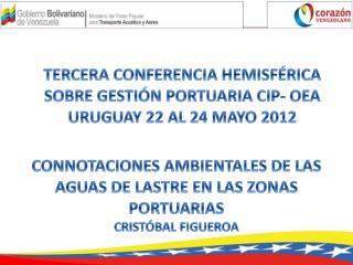 CONNOTACIONES AMBIENTALES  DE LAS  AGUAS DE LASTRE EN  LAS  ZONAS  PORTUARIAS  CRISTÓBAL FIGUEROA