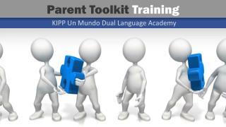 Parent Toolkit  Training