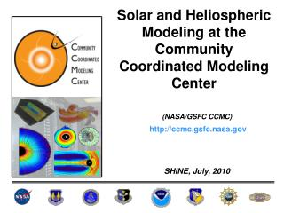 Solar and  Heliospheric  Modeling at the Community Coordinated Modeling Center